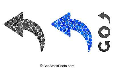 Undo Composition Icon of Circles - Undo composition of...