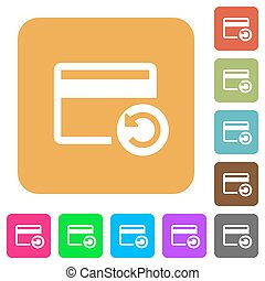 Undo credit card last operation rounded square flat icons