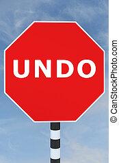 Undo - operational concept