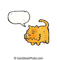 undorító, karikatúra, macska