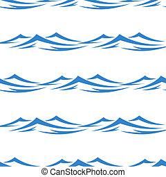 undulating, ondas, seamless, padrão experiência