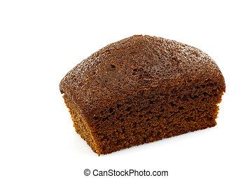 une, gâteau chocolat, entier