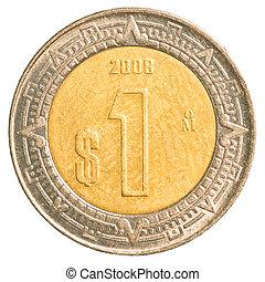 une, monnaie, peso mexicain
