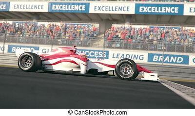 une, race voiture, côté, finition, lent, ligne, sur,...