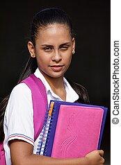 Unemotional School Girl