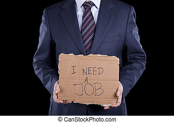 Unemployed businessman - unemployed unrecognizable...