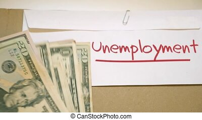 Unemployment costs concept - unemployment money concept