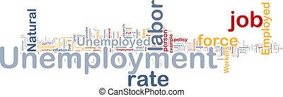 Unemployment job background concept