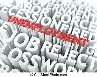Unemployment. The Wordcloud Concept.