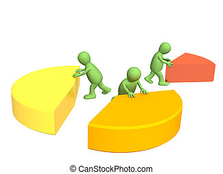 Unequal division - Conceptual image - unequal division
