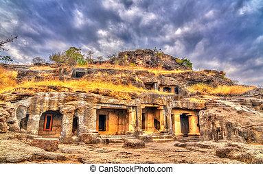 unesco, 23, caverna, índia, local, maharashtra, ellora, herança, mundo, complex.