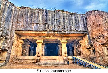 unesco, caverna, índia, dhumar, 29, maharashtra, ellora, herança, local, mundo, complex., lena