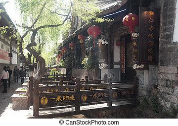unesco, dziedzictwo, ch, historyczne umieszczenie, yunnan, ...