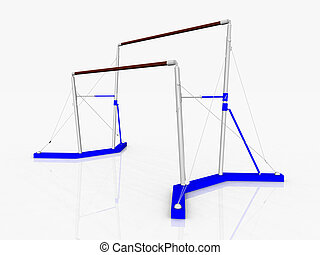 Uneven Bars - Computer generated 3D illustration with Uneven...