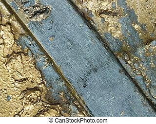 Uneven bronze surface