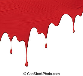 red paint drips - uneven red paint drips, use as background