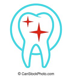 Uneven tooth icon, flat style.