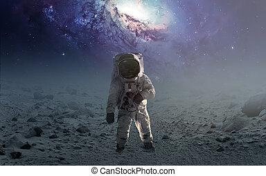 unexplored, wandelende, communie, gemeubileerd, planet., ...