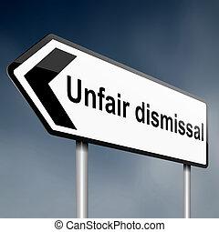 Unfair dismissal concept. - Illustration depicting a road...