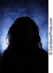 Unfamiliar female silhouette - Silhouettes of a female head ...