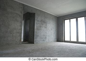 Unfinished apartment interior