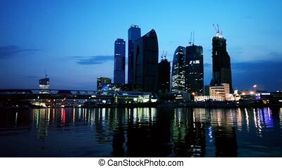 Unfinished City of Moscow, view from river at evening
