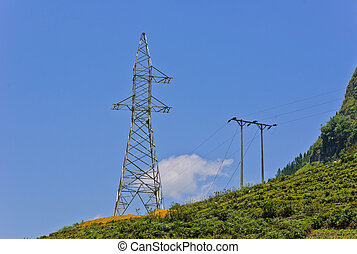 Unfinished electricity pylon