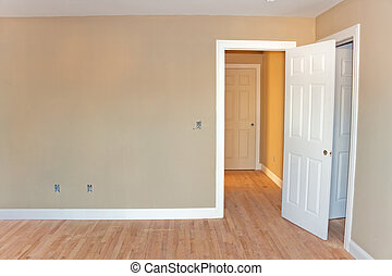 Unfinished Home Room Interior - Newly constructed house...