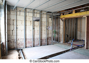 Unfinished interior build