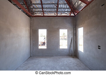 room of inside house under construction