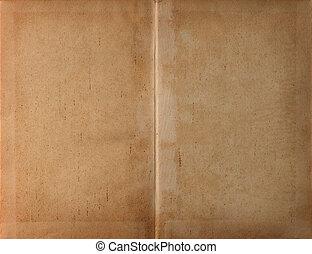 Unfolded book dark paper