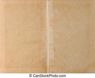 Unfolded book light paper