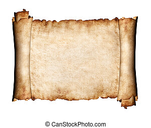 Unfolded piece of parchment antique paper background -...