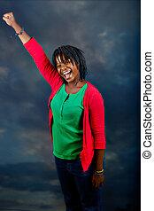 ung, afrikansk kvinna