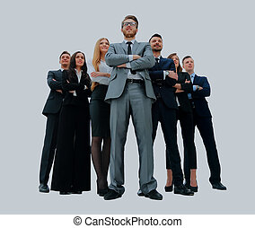 ung, attraktiv, affärsfolk, -, den, elit, affär, team.