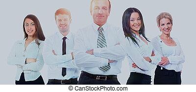 ung, attraktiv, affärsfolk, -, den, elit, affärsverksamhet lag