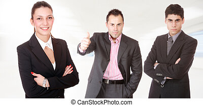 ung, attraktiv, affärsfolk