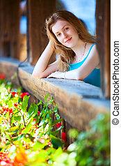 ung kvinde, portræt
