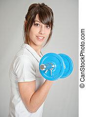 ung kvinna, viktutbildning