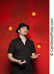 ung man, jonglera