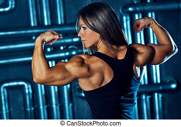 ung, sporter kvinna