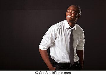 unge, afrikansk amerikaner mand