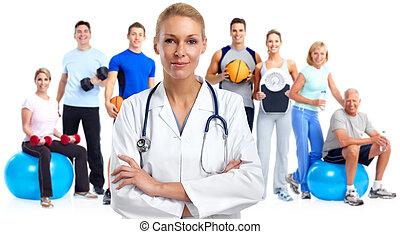unge, medicinsk doktor, woman.