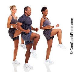 unge mennesker, exercising