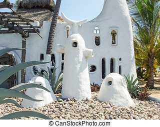 ungewöhnlich, architektur, in, acapulco