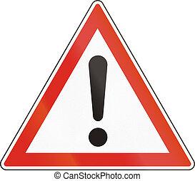 ungherese, pericolo, -, generale, simbolo di avvertenza, strada