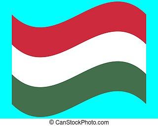 ungheria, eps, onda, bandiera, illustrazione, vettore, 10