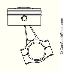 Ungine Piston Outline Drawing - Outline drawing od a piston...