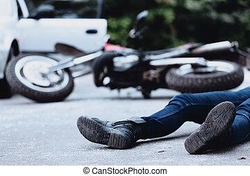unglück, motorrad, opfer