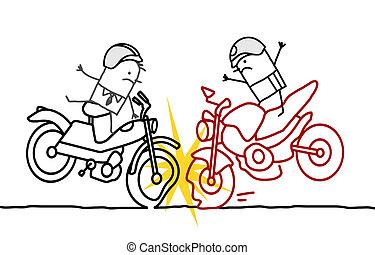 unglück, motorrad